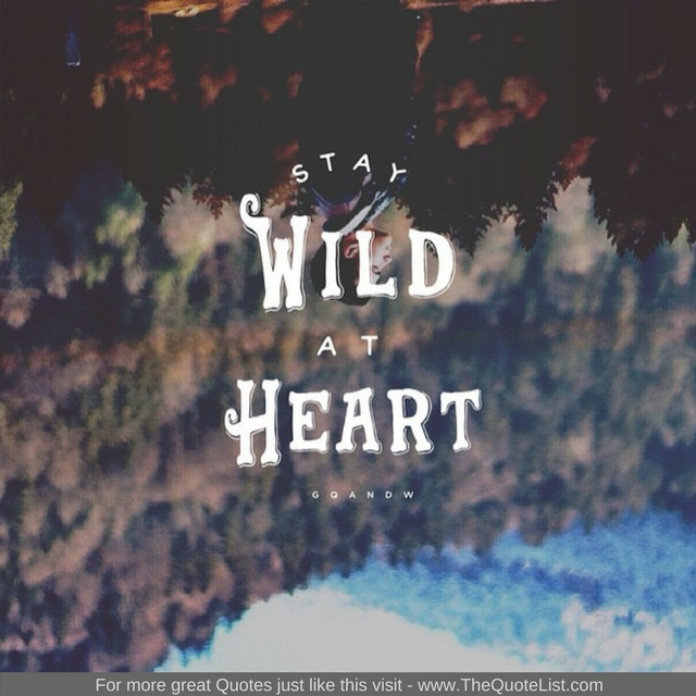 """Stay wild at heart"""